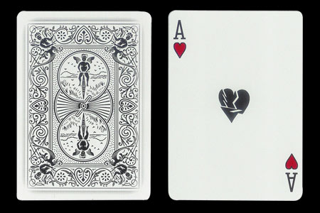 Shattered Ace of Hearts BICYCLE Ghost Card