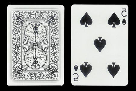 Mirrored 5 of Spades BICYCLE Ghost Card