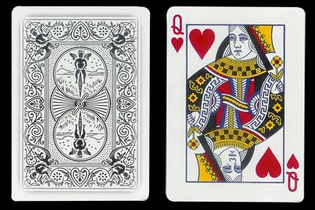 Queen of Hearts BICYCLE Card with Ghost Back
