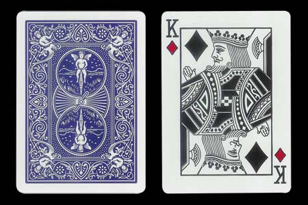 Blue Back BICYCLE Card with Ghost King of Hearts F