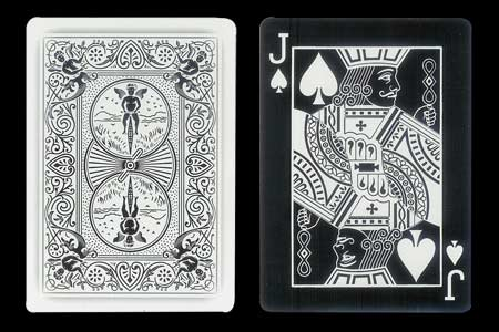 Jack of Spades BICYCLE Card with Ghost Back