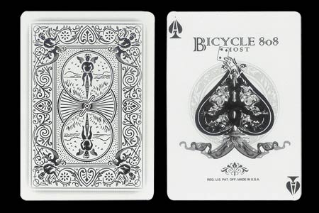 Carta BICYCLE Ghost As de picas con Cartita 4 de p