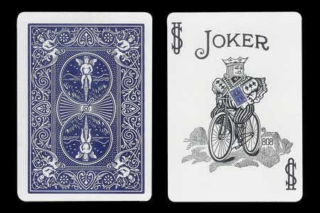 Carte Bicycle Joker avec dos bleu