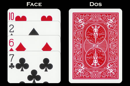 BICYCLE Card with Vertical Extension face