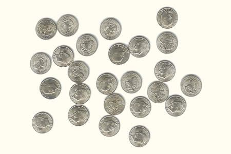 Small coin - 1$ (*12)