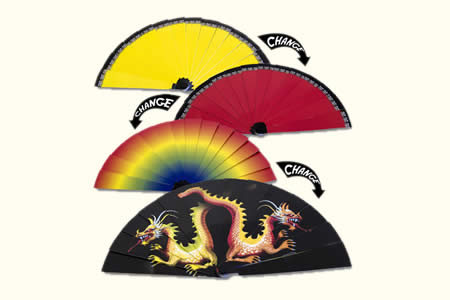 Colour changing fan (dragon)