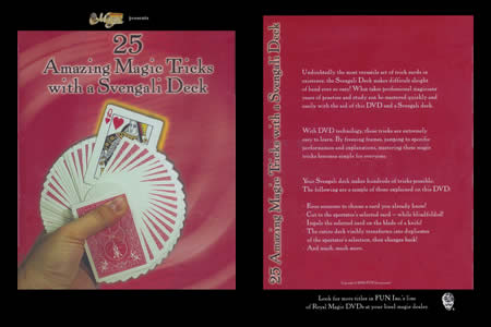 DVD 25 Amazing Magic Tricks with a Svengali Deck