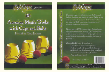 Dvd 25 Amazing Magic Tricks with Cups and Balls