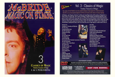 Dvd Mc Bride magic on stage - Vol.3 Classics of ma