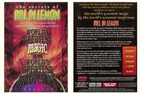 DVD The Secrets of Bill in Lemon