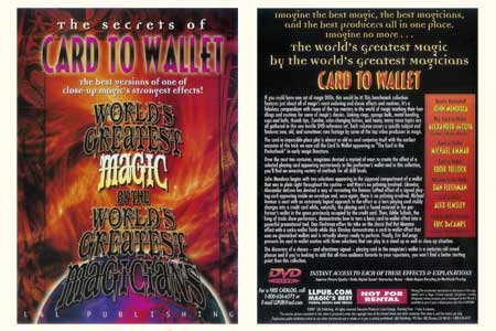 DVD The Secrets of Card To Wallet
