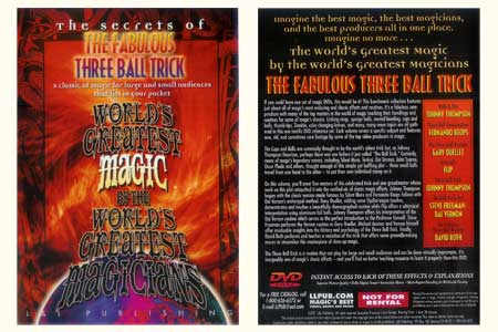 DVD The Secrets of The Fabulous Three Ball Trick