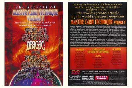 DVD The Secrets of Master Card Technique (Vol.1)