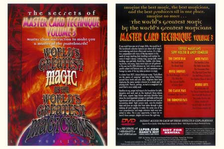 DVD The Secrets of Master Card Technique (Vol.3)