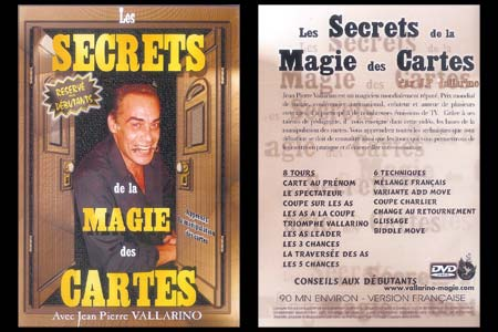 Lot DVDs Secrets de la Magie des Cartes