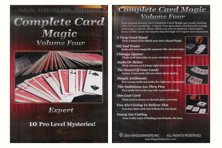 Dvd 'Complete Card Magic' Vol 4 (Expert)
