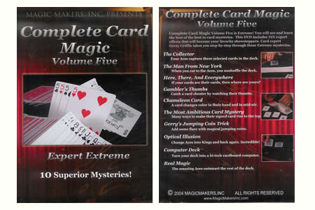 Dvd 'Complete Card Magic' Vol 5 (Expert Extreme)