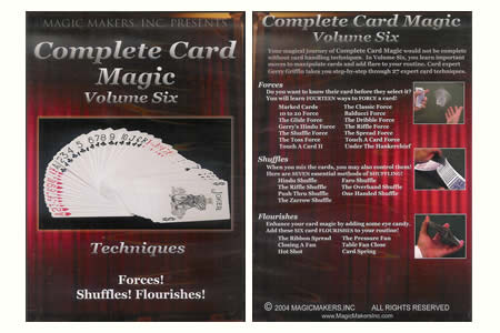 DVD Complete Card Magic Vol.6 (Techniques)