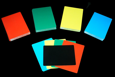 Lot de cartes de manipulation 4 couleurs