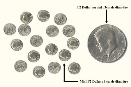 Small coin - ½$ (*12)
