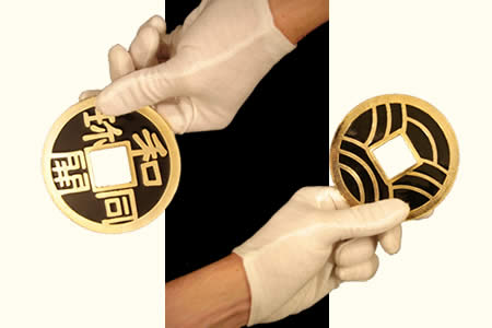 Golden chinese coins - 10 cm