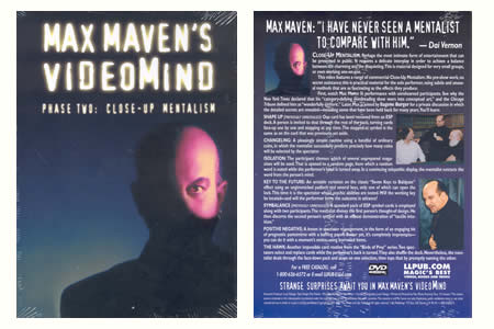 Dvd 'Max Maven's Videomind phase 2'