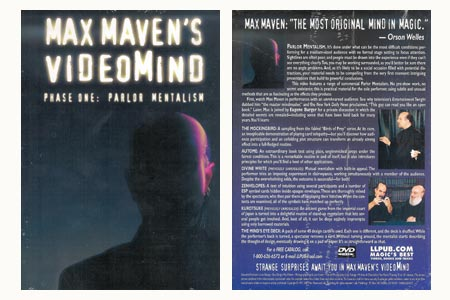 Dvd 'Max Maven's Videomind phase 1'