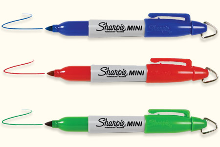 Mini sharpie de couleur