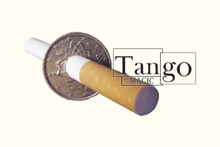 Cigarette thru coin - 50 cts € Two Sides