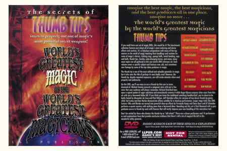 DVD The Secrets of Thumb Tips