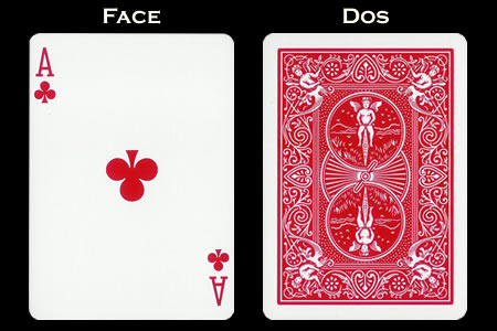 Reverse color Card Ace of Clubs