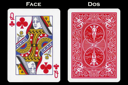 Reverse color Card Queen of Clubs