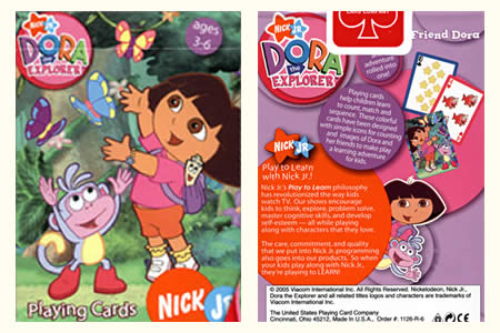 Dora the Explorer BICYCLE Deck (Blue & Pink)