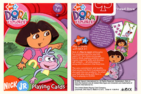 Dora the Explorer BICYCLE Deck (Green & Purple)