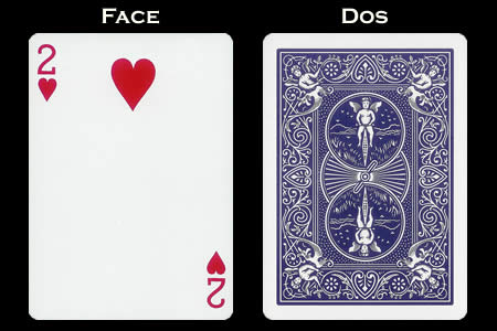 2 of Hearts Index Only BICYCLE Card