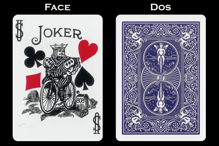 Carta BICYCLE Joker con 4 Palos