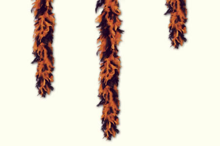 Bicolor feather boa - orange & black