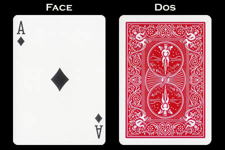 Reverse color Card Ace of Diamonds