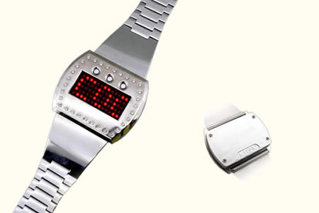 Montre � LED rouge programmable