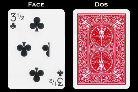 3 & 1/2 of Clubs BICYCLE Card