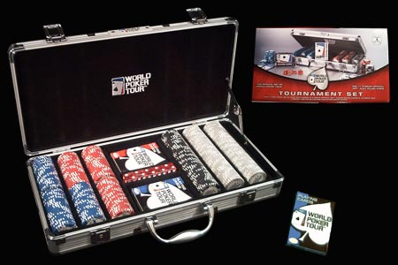 300 Poker Chips Poker WPT Tournament Set Suitcase