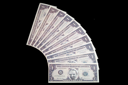 Billets flash 1 Dollar Mini (par 10)