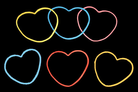 Japanesse rubberbands Hearts