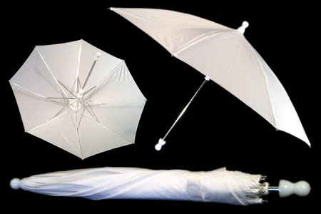 White appearing umbrella - unit