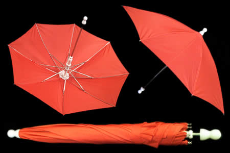 Red appearing umbrella - unit