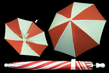 Red and White appearing umbrella - unit