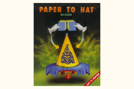 Paper to wizard hat
