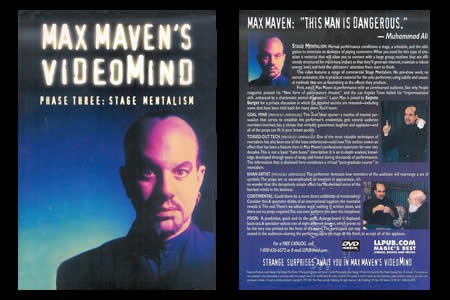 Dvd 'Max Maven's Videomind phase 3'