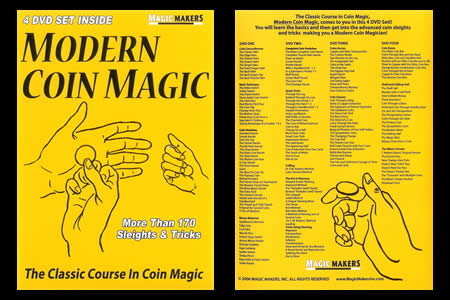 DVD Modern Coin Magic (4 DVD)