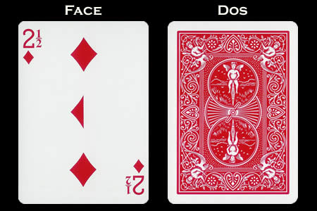 2 and 1/2 of Diamonds BICYCLE Card